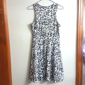 H&M Cheetah Print Fit & Flare Dress | Size S